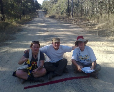 3 of the Bonhoeffer 4 on the road inside the site